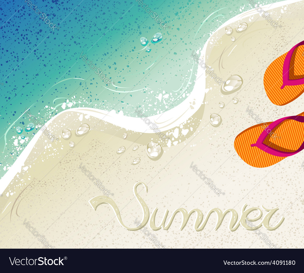 4c8887a9a Flip flops Summer time holiday background Vector Image