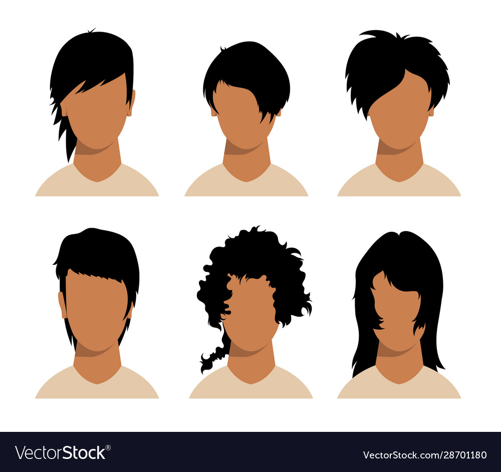 Girls and mans hairstyles and haircut with face