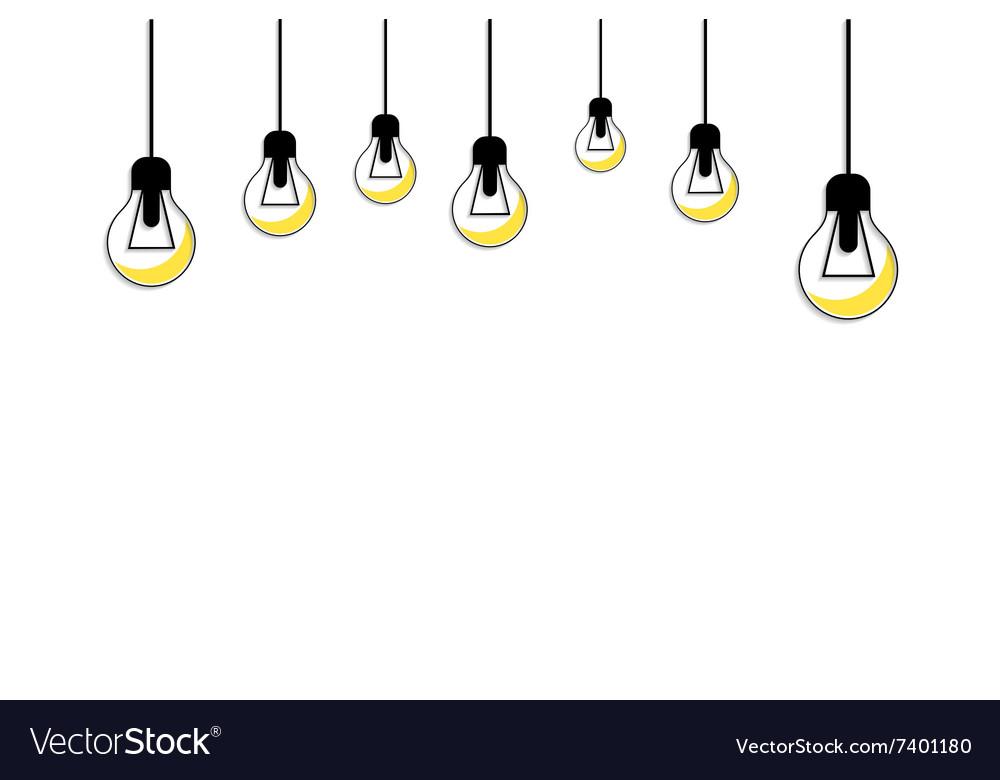 Glowing Yellow Light Bulb Idea Concept