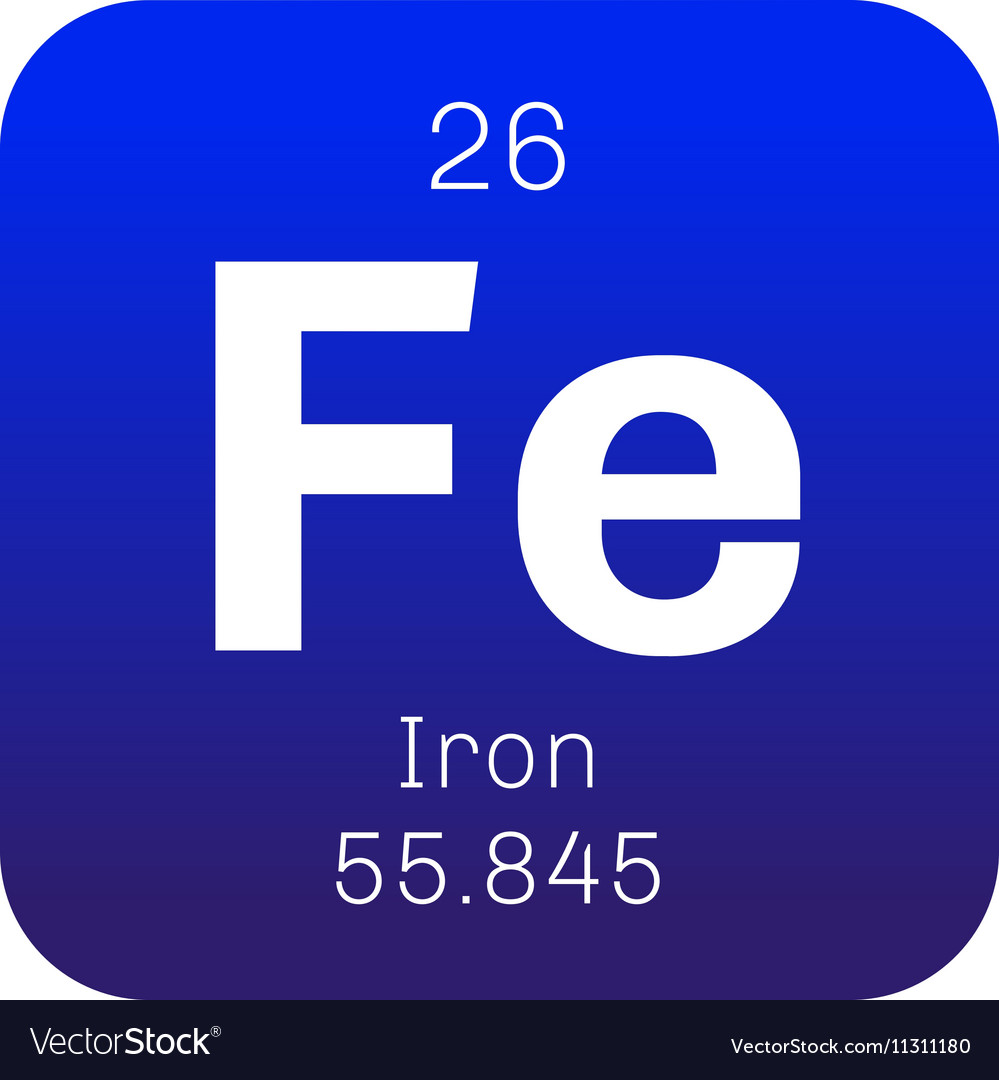 Iron Chemical Element Royalty Free Vector Image
