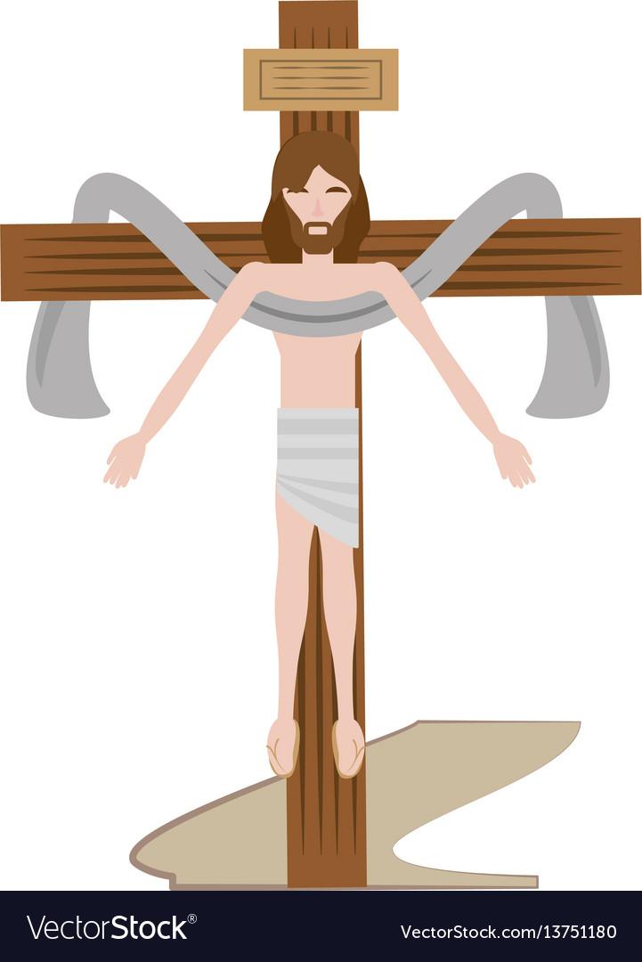 Jesus christ sacred cross vector image