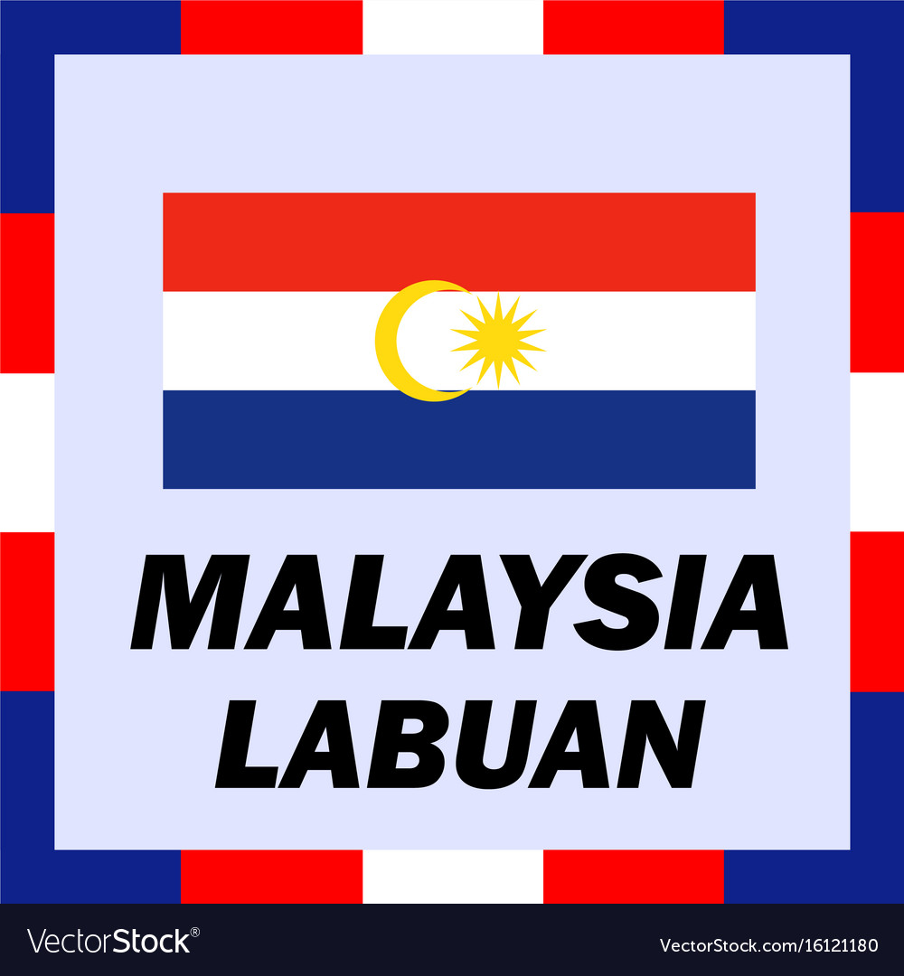Official ensigns flag and coat of arm of malaysia