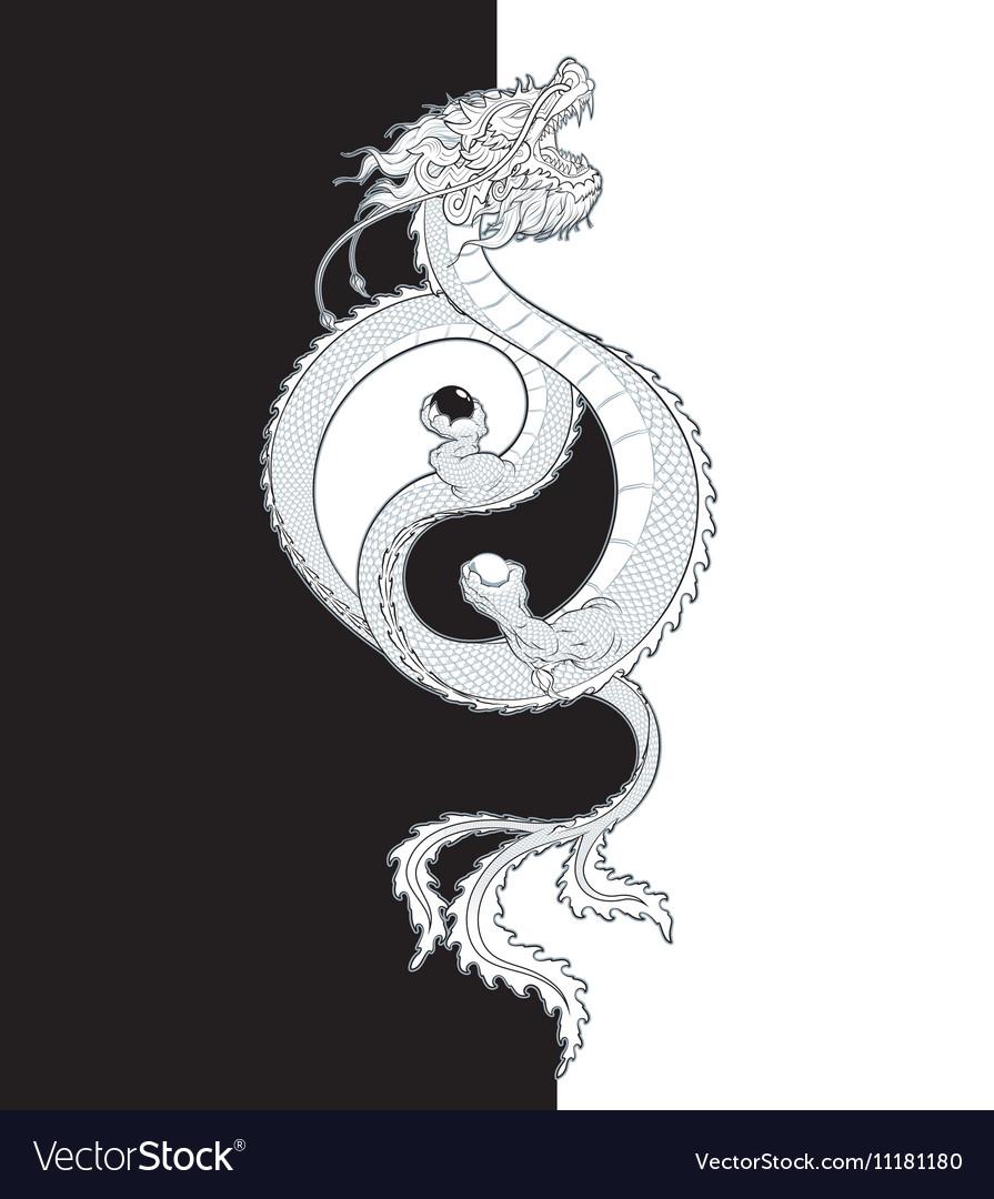 Oriental Dragon Yin Yang
