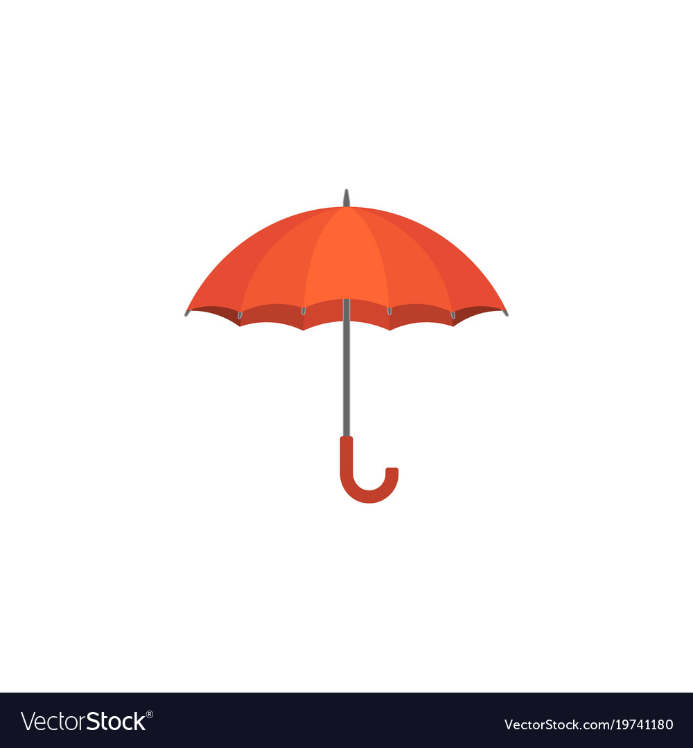 Red umbrella icon flat design