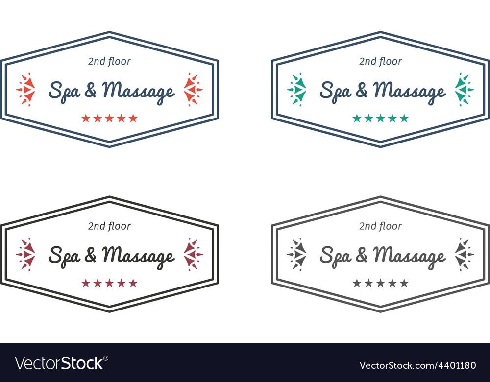 Spa and massage logo templates
