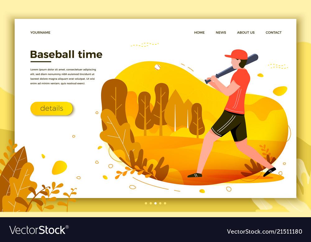 Sporty man playing baseball