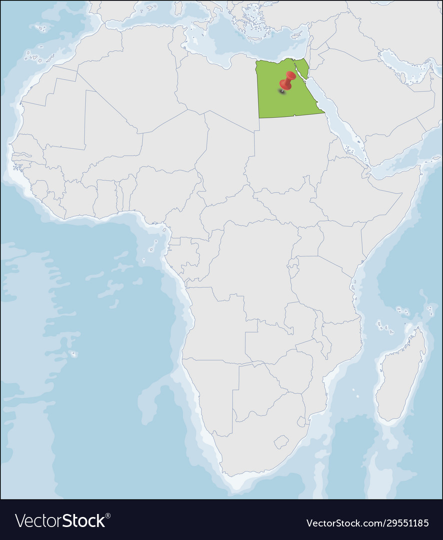 Image of: Arab Republic Egypt Location On Africa Map Vector Image
