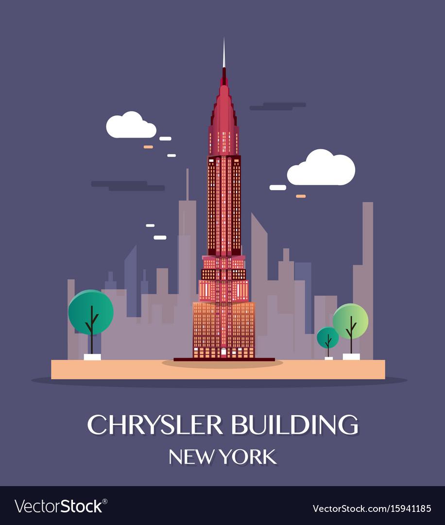 chrysler building new york royalty free vector image rh vectorstock com Top Floors of Chrysler Building chrysler building vector free