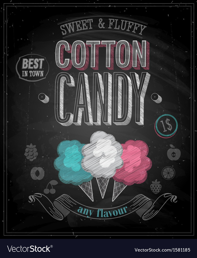 Cotton candy chalk