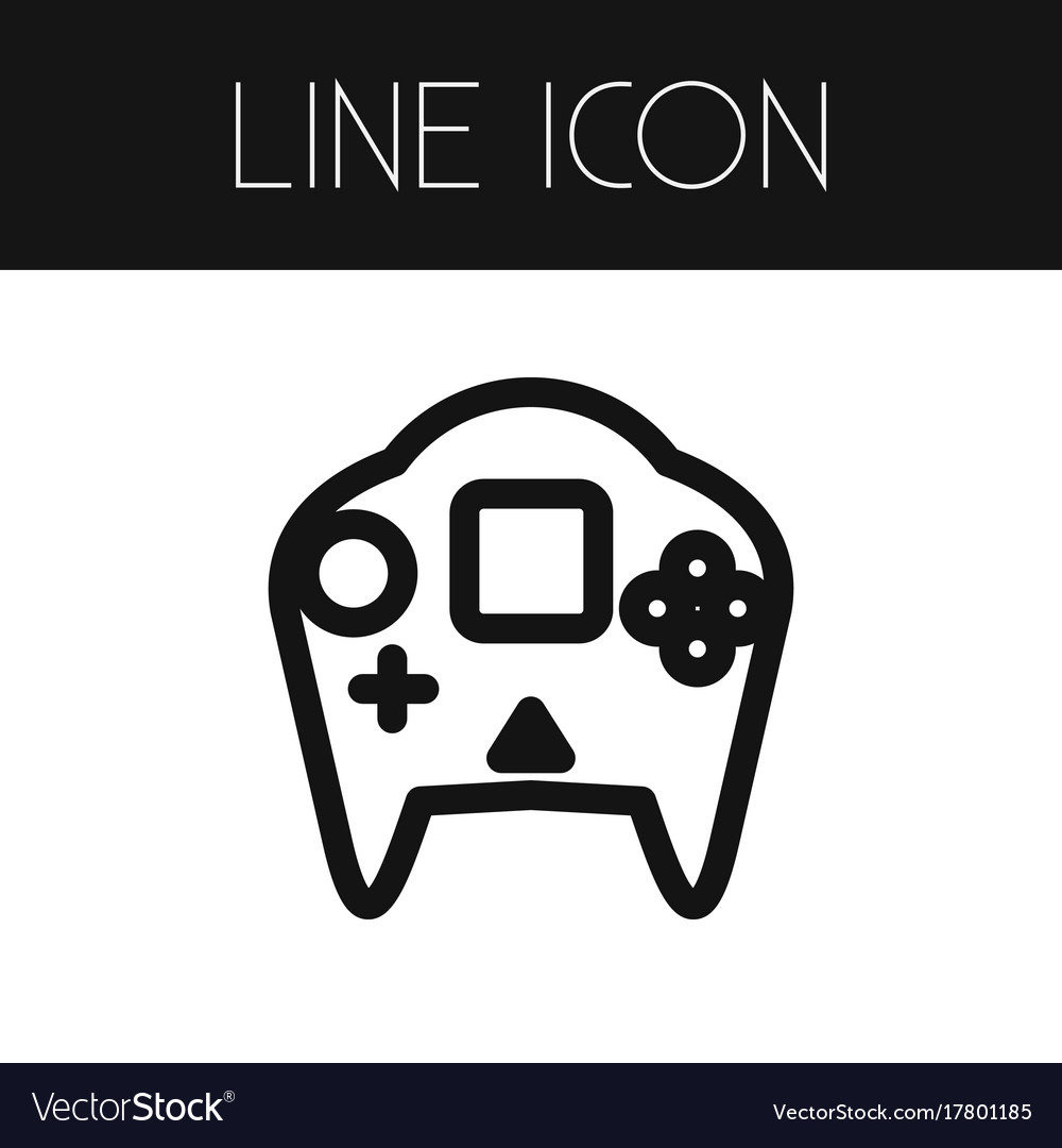 Isolated Arcade Outline Videogame Element Vector Image - Video game outline