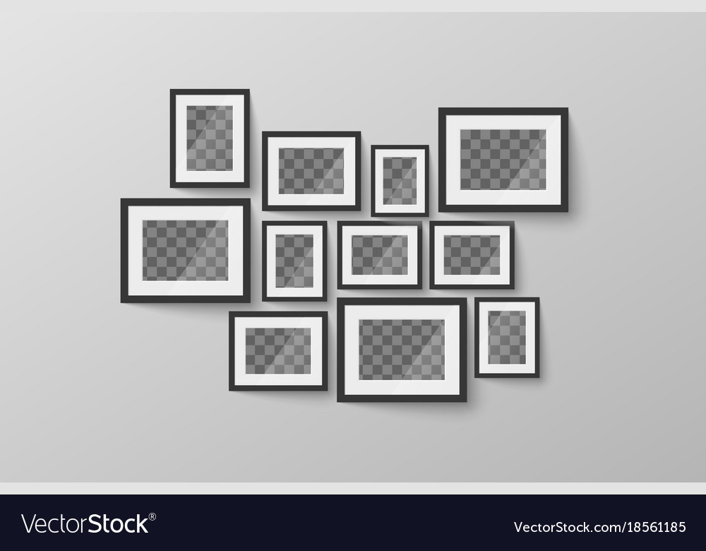 Modern minimalist black blank picture frame with