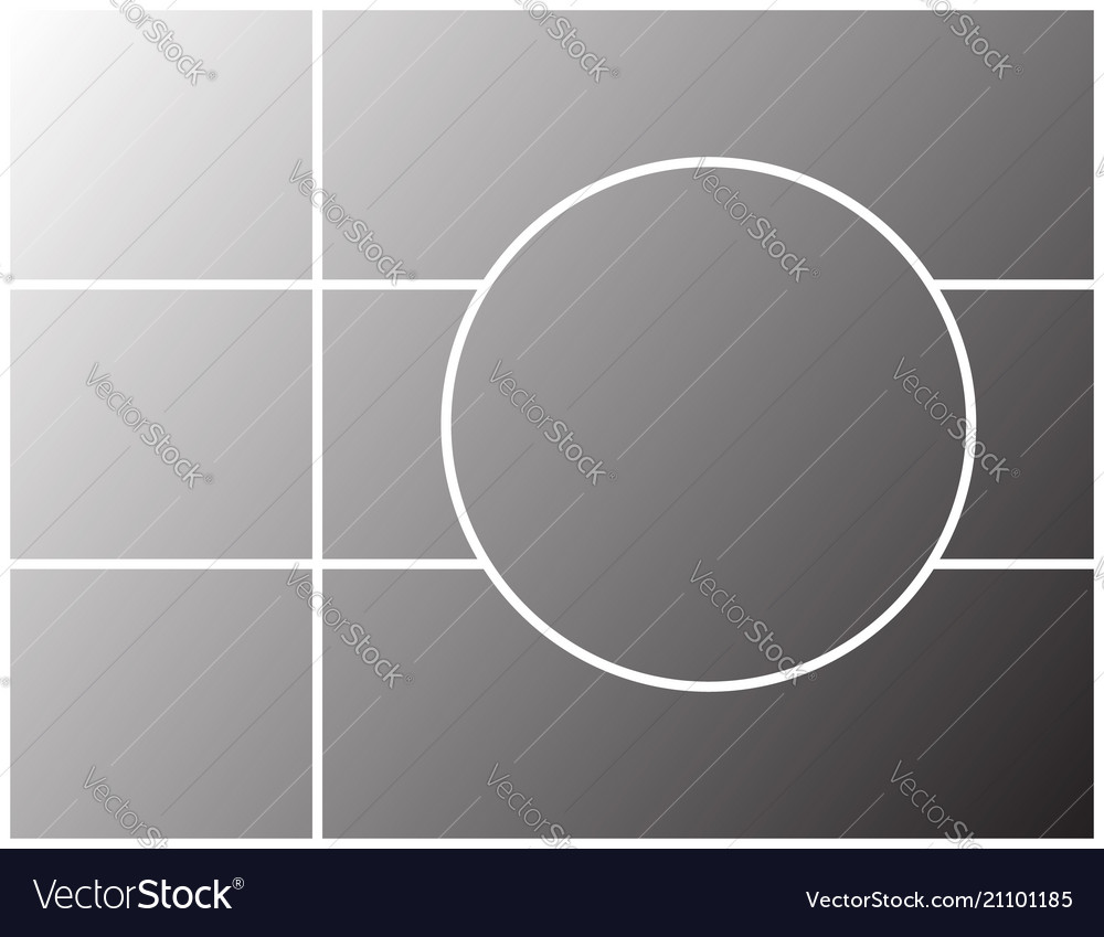 montage frame template for photo collage vector image