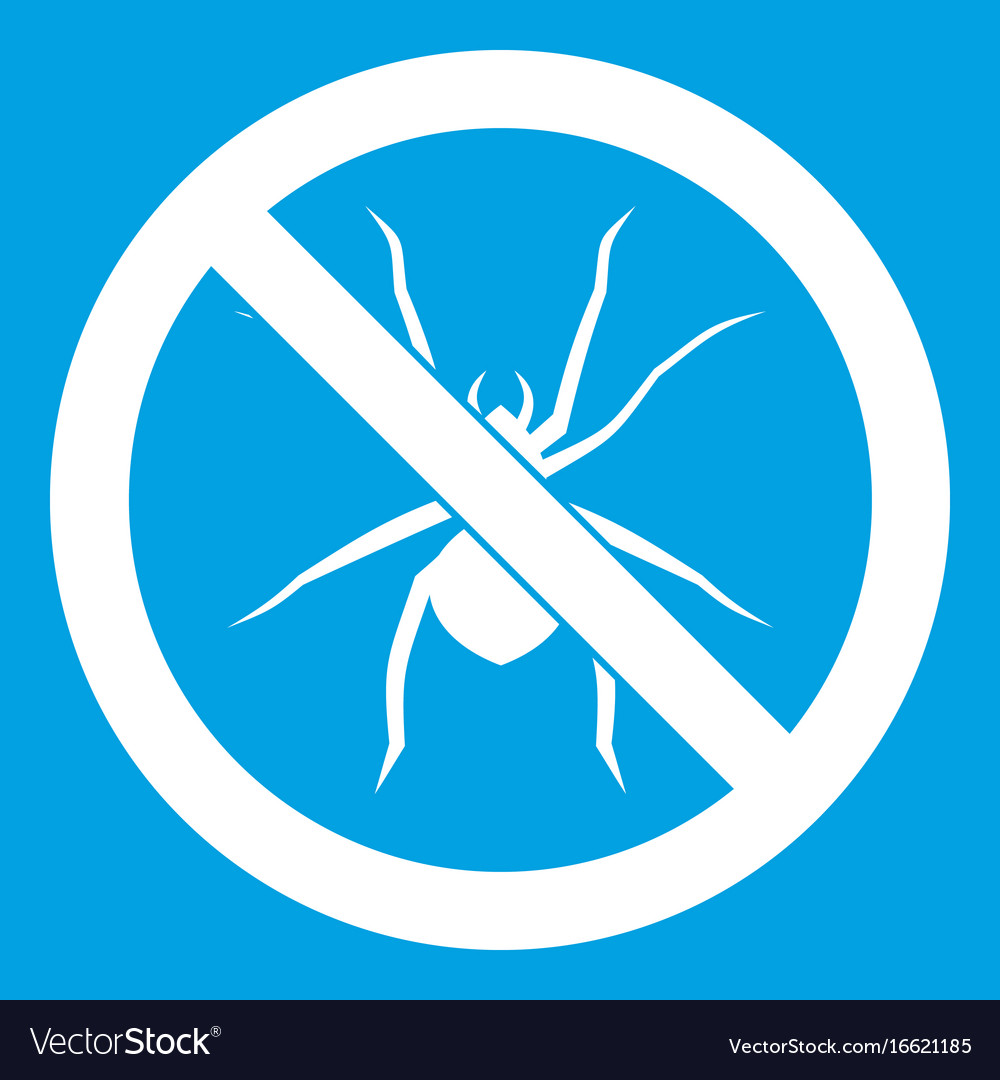 No spider sign icon white