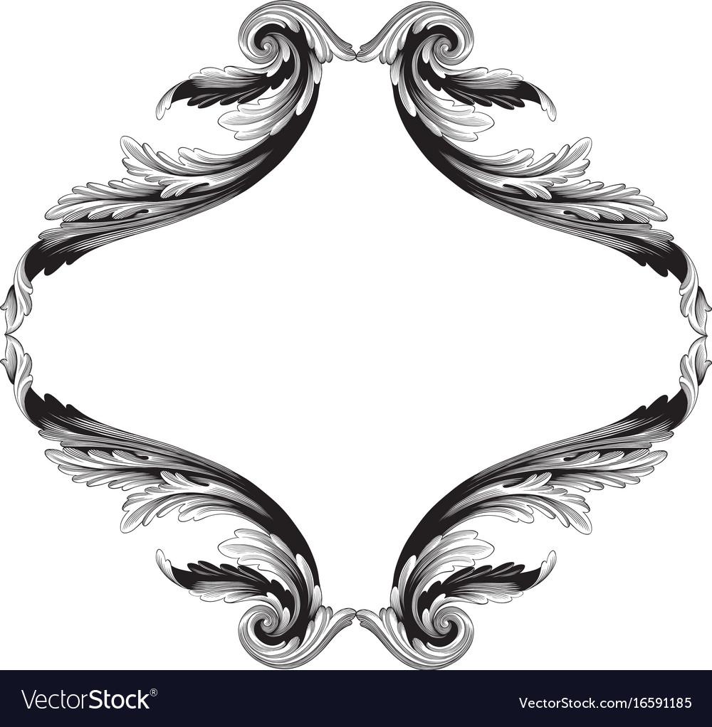 ornament in baroque style for filigree royalty free vector rh vectorstock com filigree vector image filigree vector image