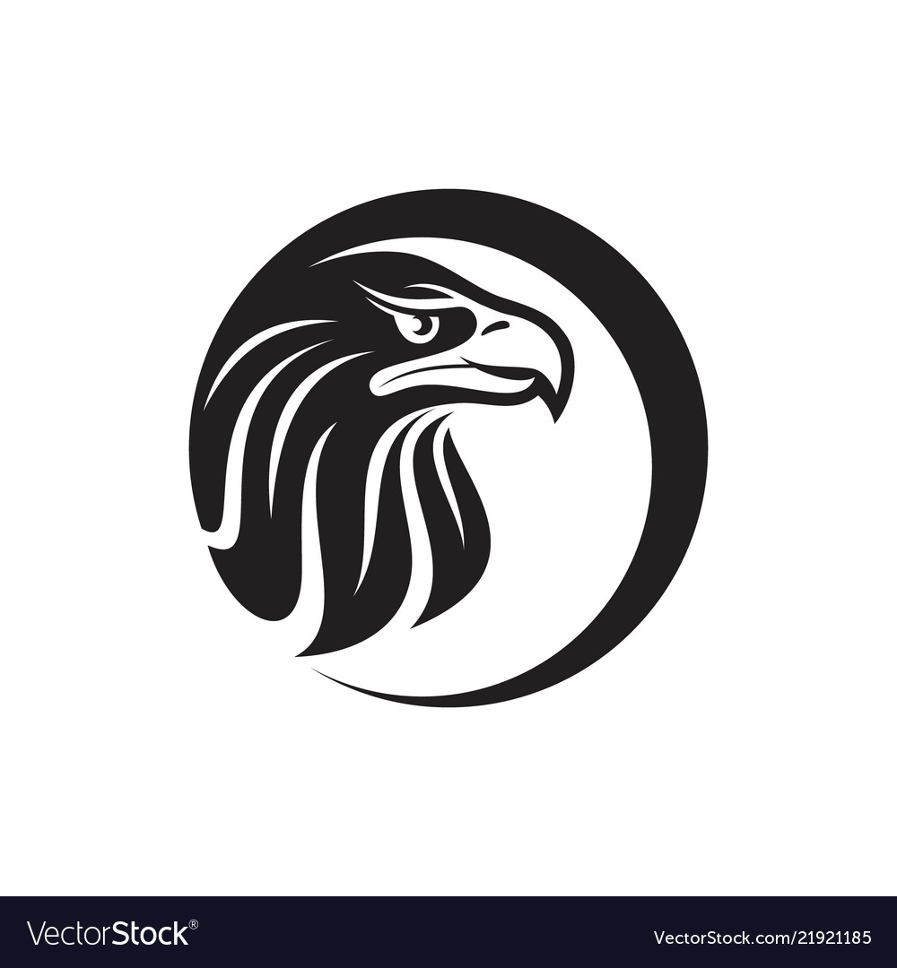Round eagle head