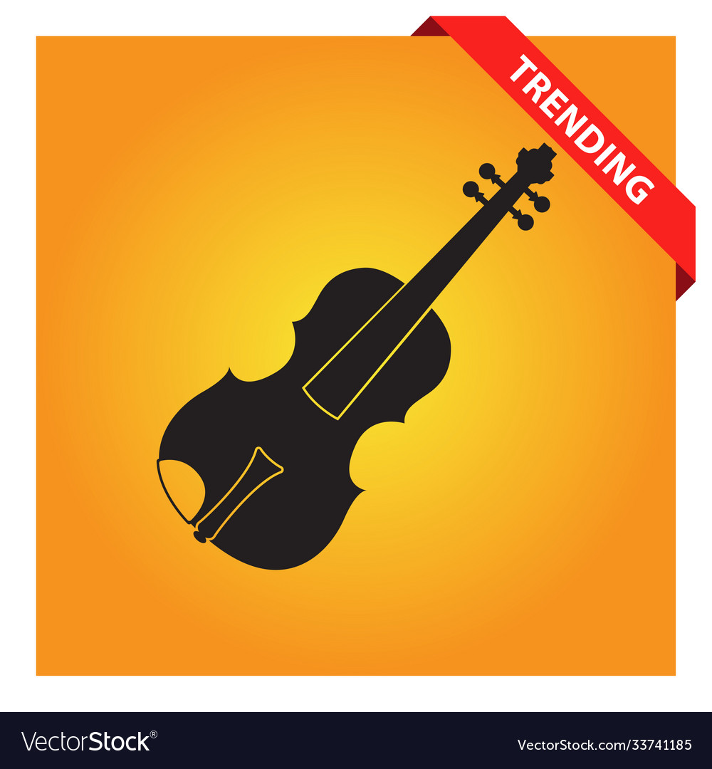 Violin icon for web and mobile
