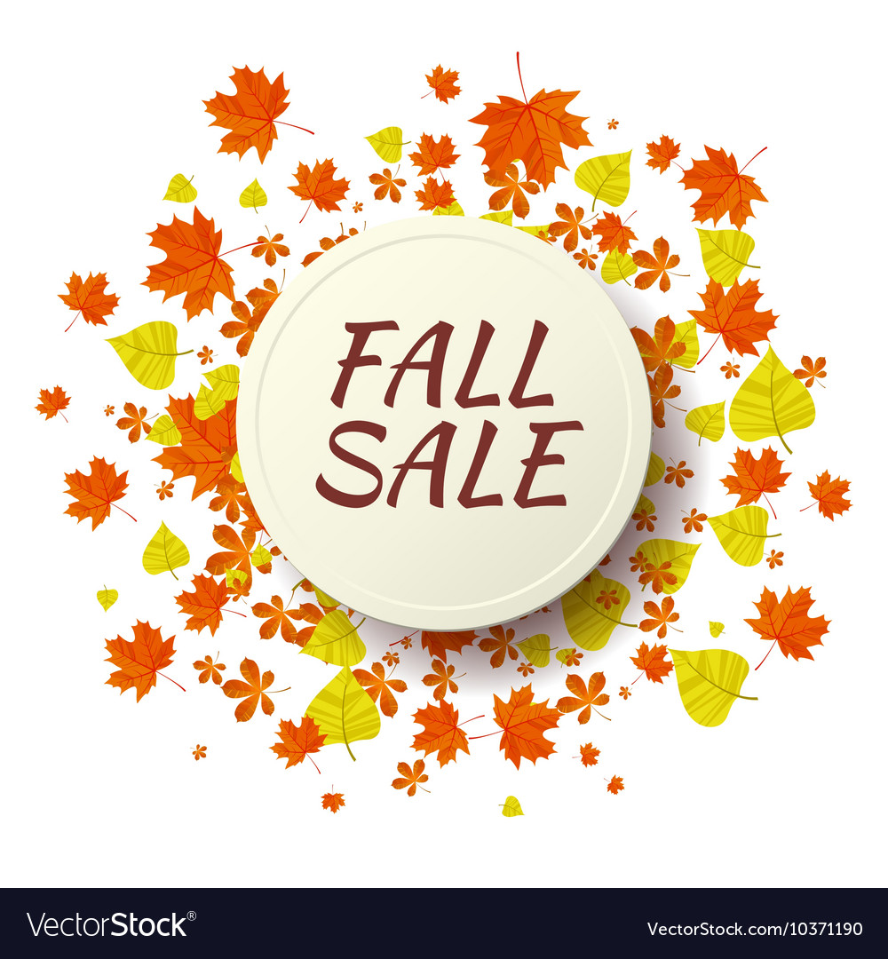 Autumn seasonal sale label