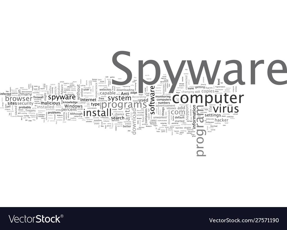 Beware spyware