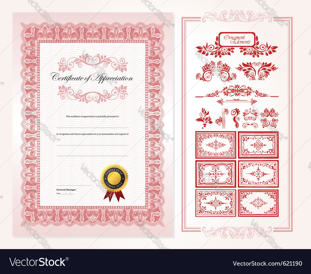 Certificate design template royalty free vector image certificate design template vector image yadclub Image collections