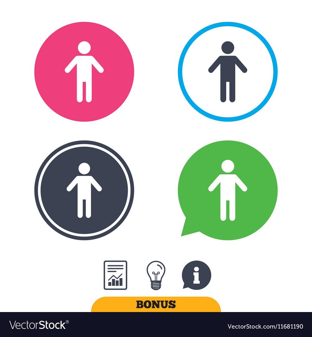 Human male sign icon Person symbol