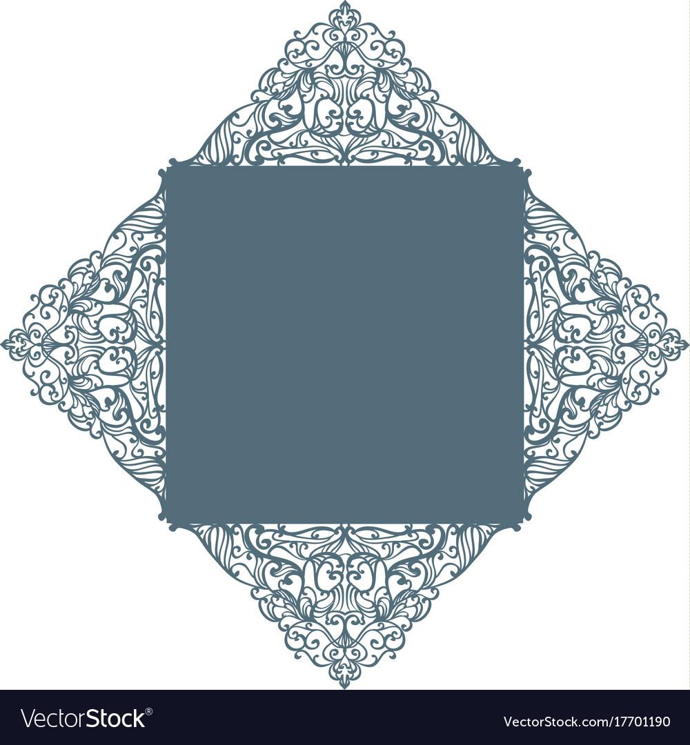 Laser cut envelope template vector image