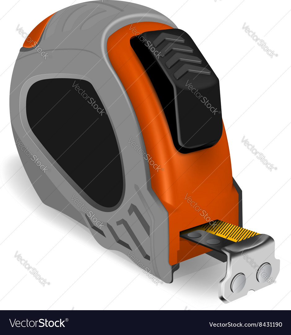 Photorealistic tape measure vector image