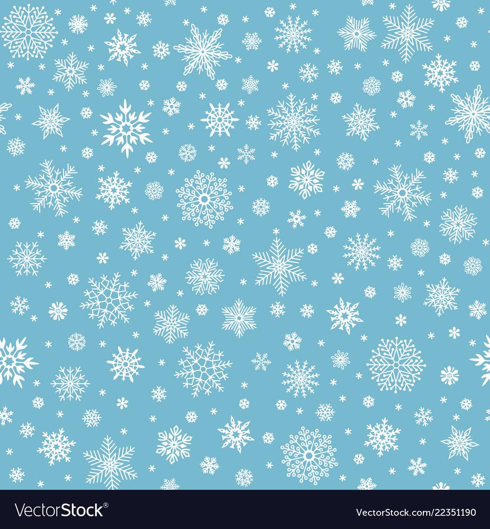 Snowflakes seamless pattern winter snow flake