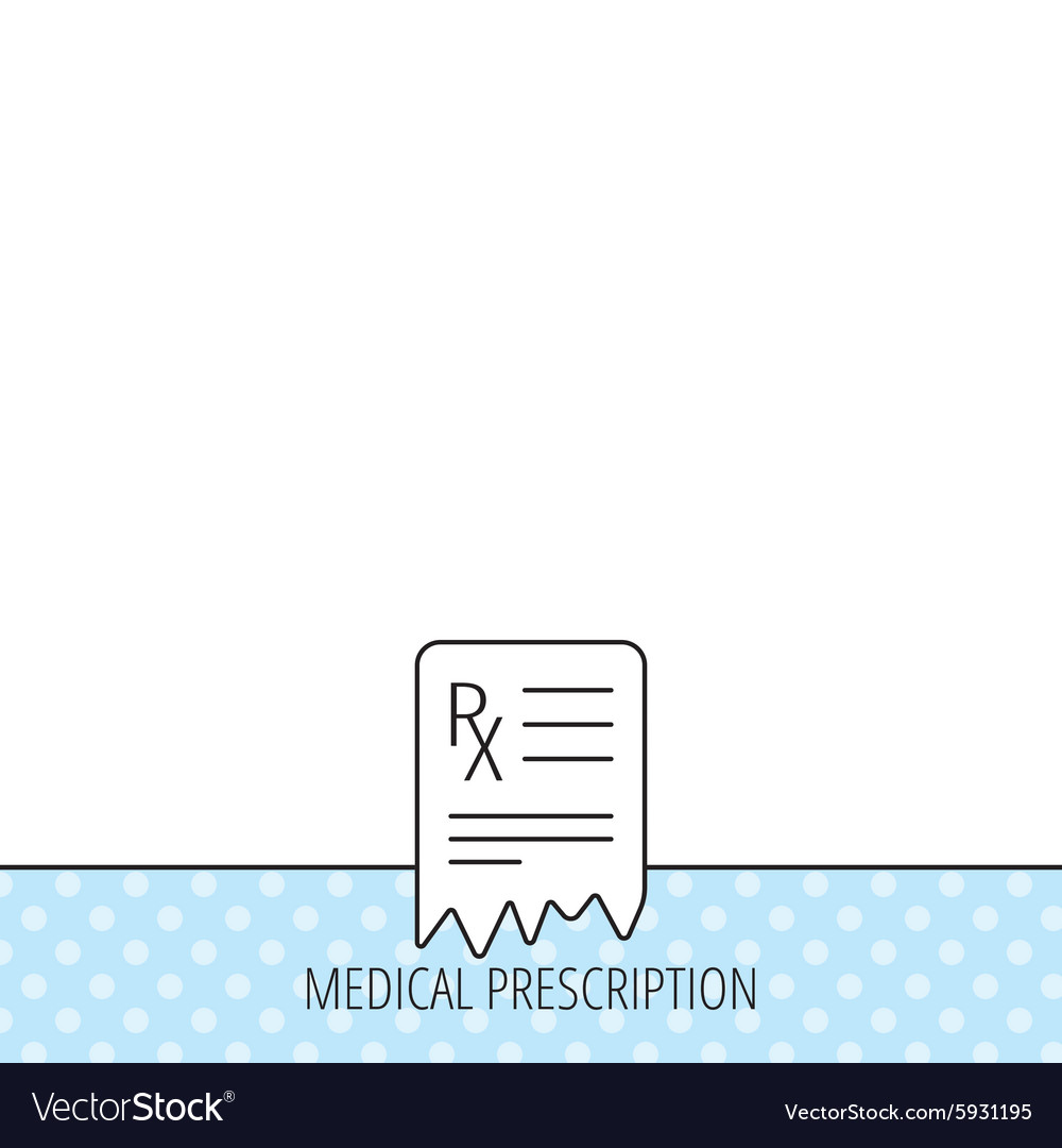 Medical prescription icon Health document sign