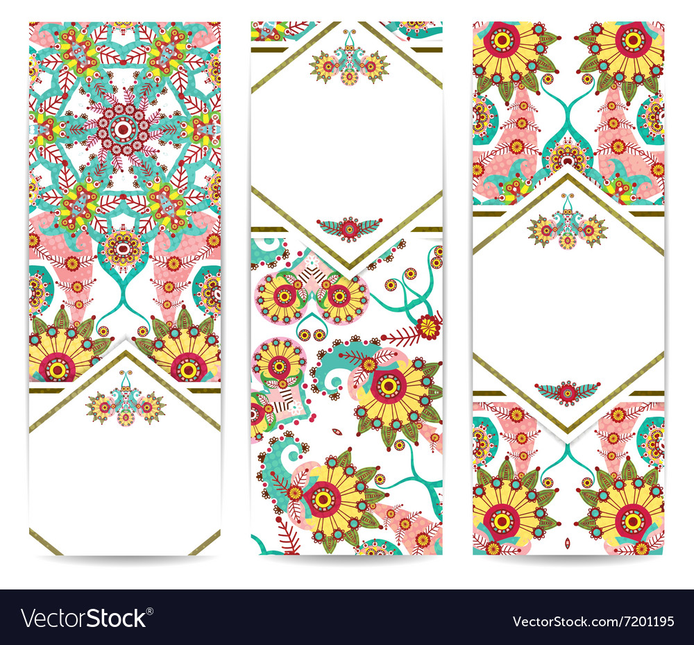 Set of vertical retro banners or backgrounds