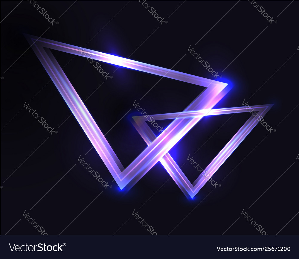Abstract Background With Neon Triangles And