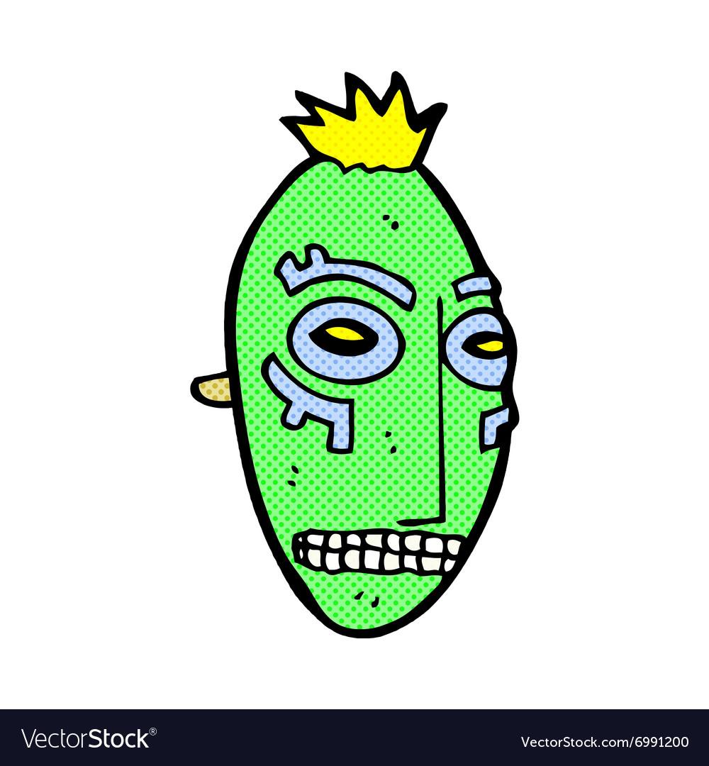 Comic cartoon tribal mask