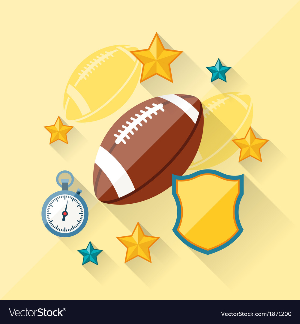 Concept of american football in flat design style vector image