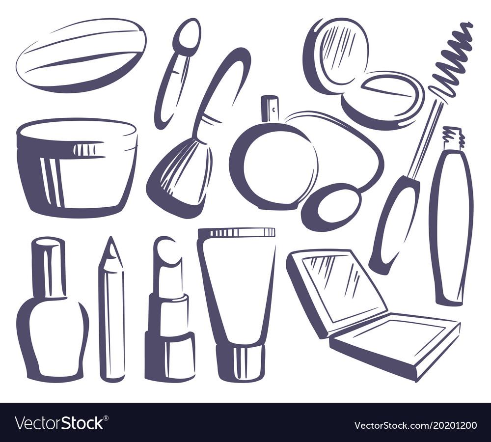 Cosmetics sketches