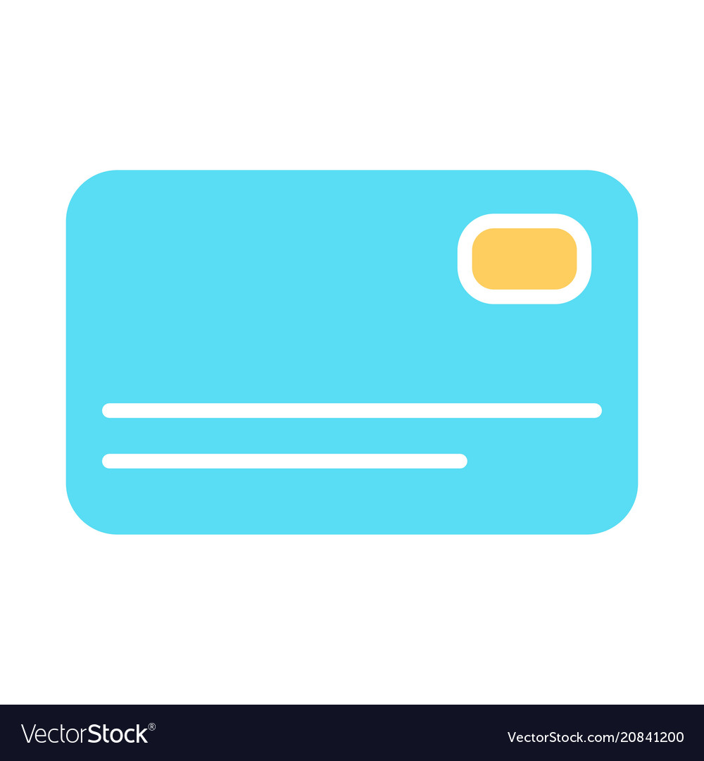 Credit card silhouette icon simple pictogram