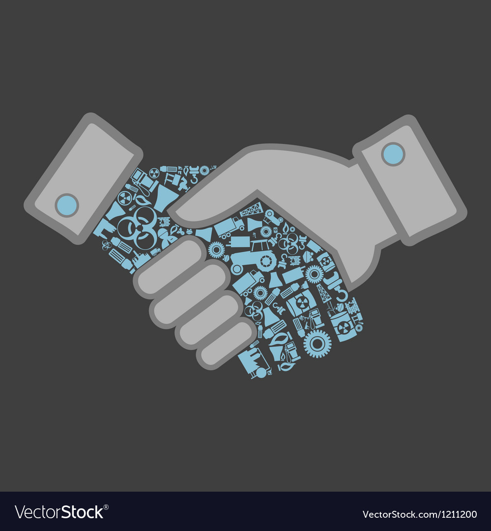 Industry hand shake vector image
