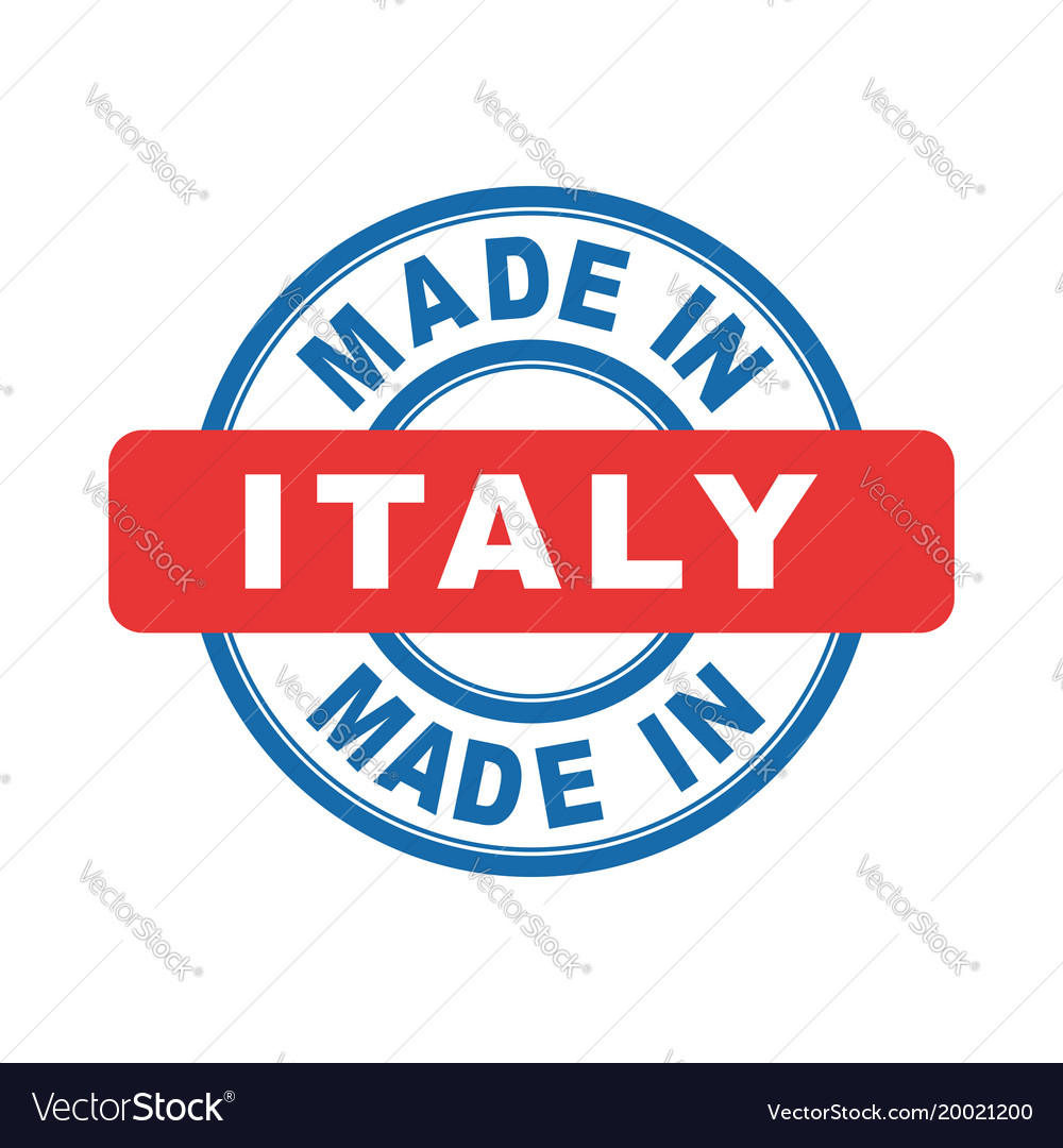 Made in italy emblem flat
