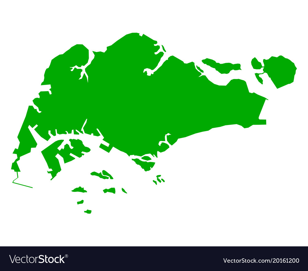 Map of singapore Royalty Free Vector Image - VectorStock