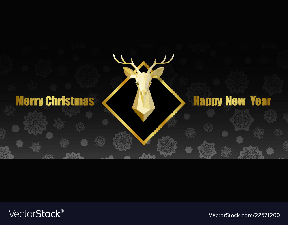 merry christmas and happy new year web banner with vector image