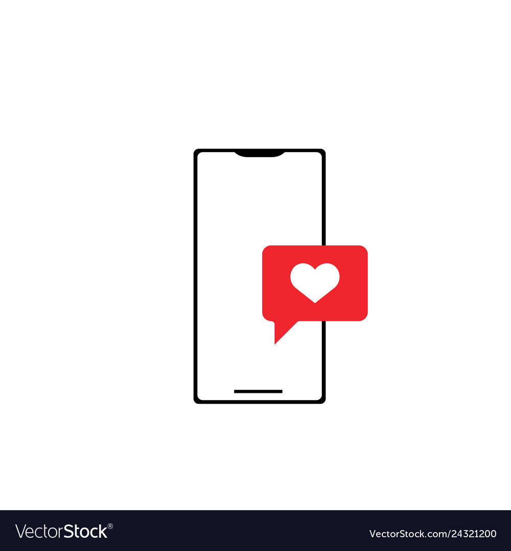 Online dating icon design template isolated