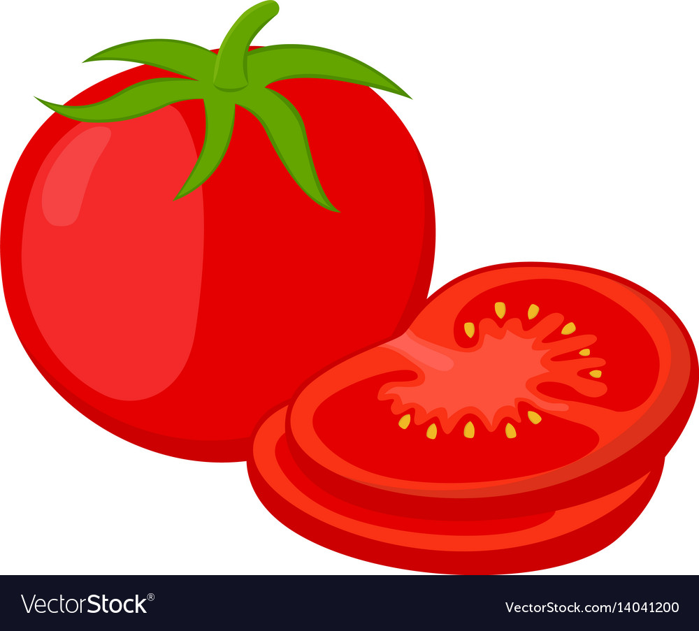 Sliced Tomato — Stock Vector © lereen #38671037   Slice Of Tomato Clipart