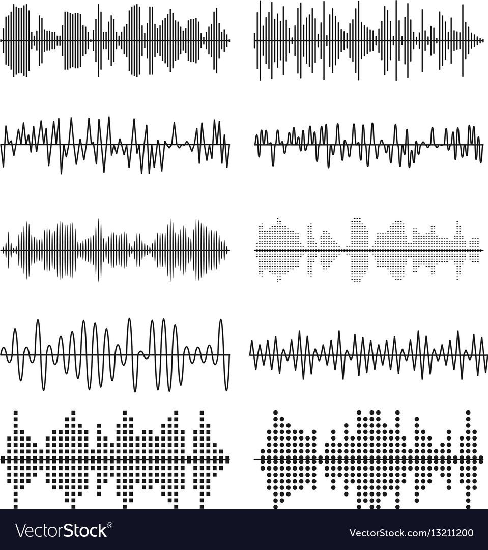 Sound wave forms soundtrack