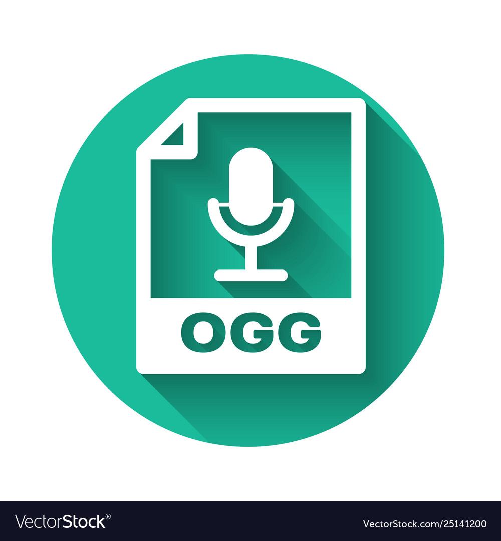 White ogg file document icon download ogg button
