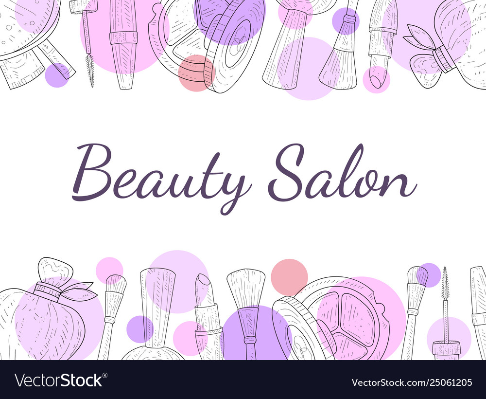 Beauty Salon Banner Template Cosmetics And Beauty Vector Image