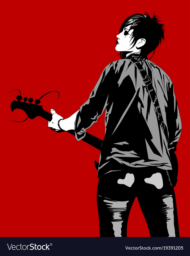 Girl with a bass guitar