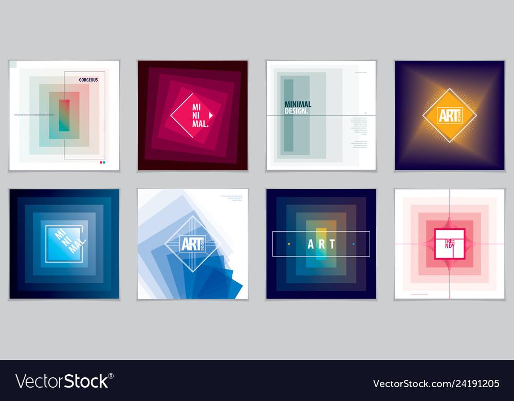 Minimalistic brochure designs web commerce or