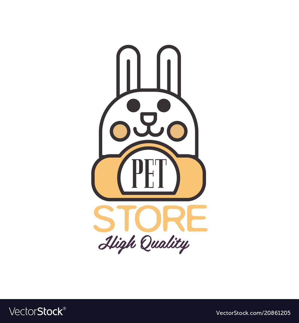 Pet store logo template design brown badge for vector image
