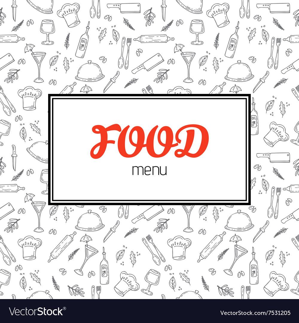 Restaurant menu design Menu template with hand