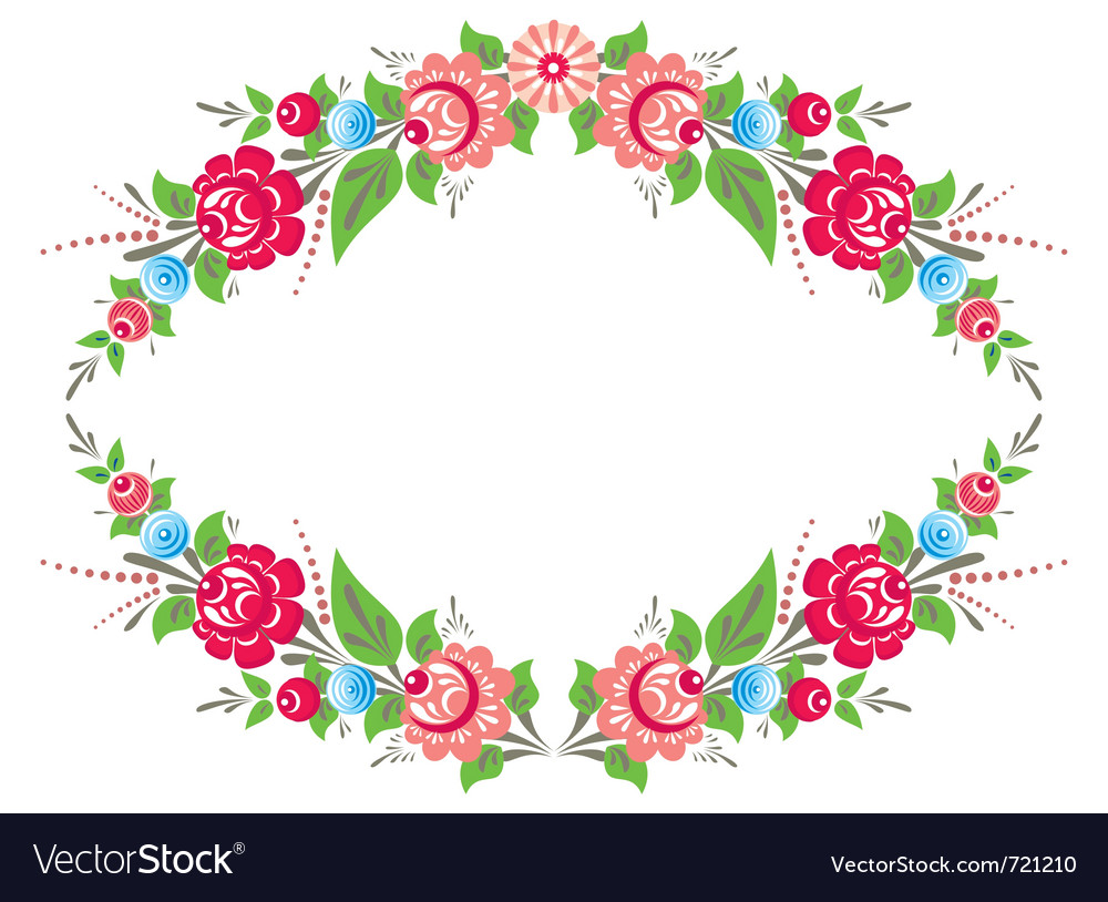 colorful floral frame royalty free vector image