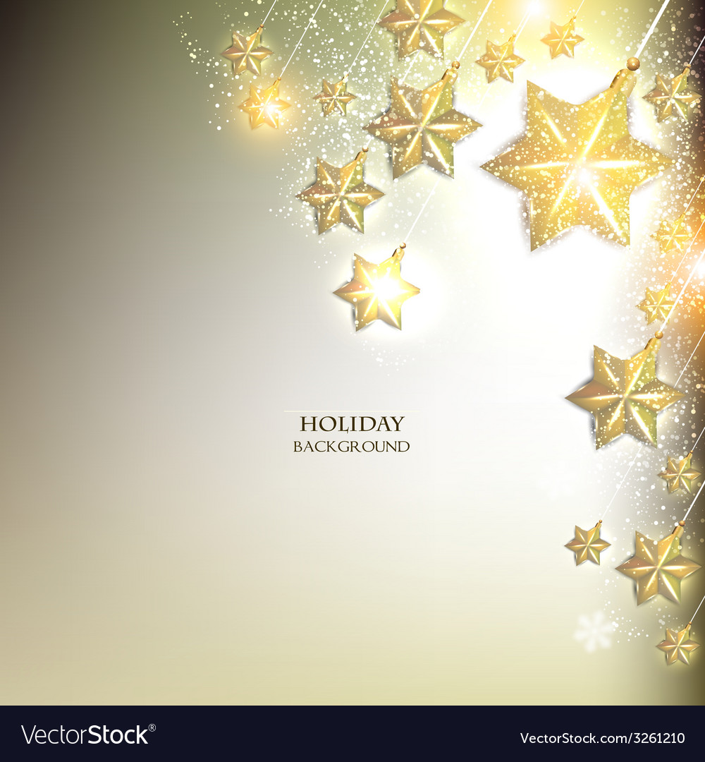 elegant christmas background with stars garland vector image - Elegant Christmas