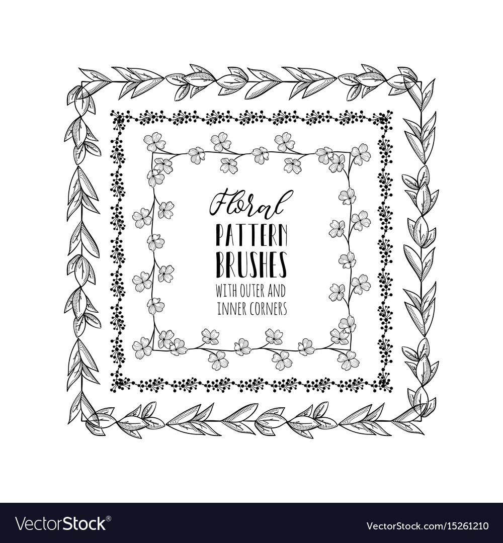 Floral pattern brushes with branches